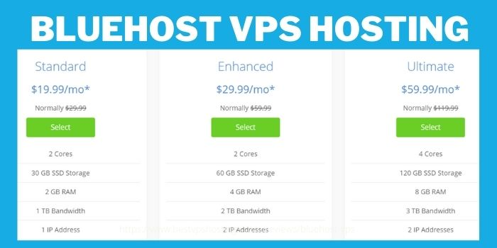 Bluehost VPS Hosting Review- Pricing