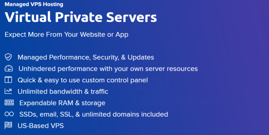 Dreamhost VPS Hosting Features