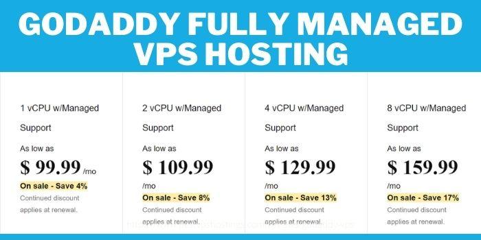 GoDaddy VPS Hosting review- Fully Managed VPS Hosting Plan